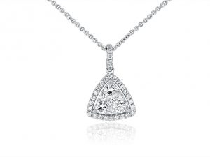 18ct White Gold Ladies Pendant